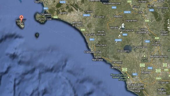 Costa Concordia Karte
