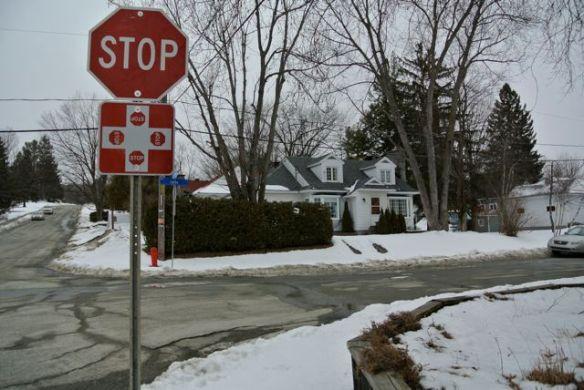 Lennoxville Stopschild