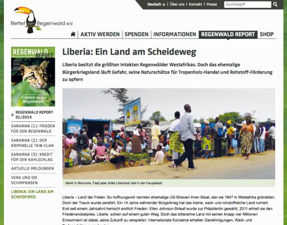 Regenwald Report - Liberia: Ein Land am Scheideweg